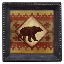 Lodge Bear Ambiance Coaster Set (Set of 4)