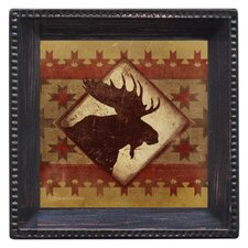 Lodge Moose Ambiance Coaster Set (Set of 4)