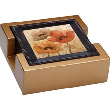 <strong>Thirstystone</strong> 5 Piece Poppy Allure II Ambiance Coaster Gift Set
