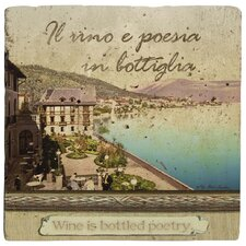 Italian Inspirations Bottled Poetry Travertine Ambiance Coaster Set (Set of 4)