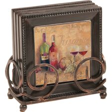 5 Piece Tuscany Coaster Gift Set