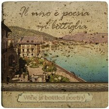 <strong>Thirstystone</strong> Ambiance Italian Inspirations Bottled Poetry Travertine Trivet