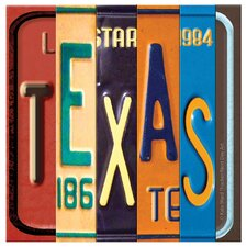 License Plates Texas Occasions Coasters Set (Set of 4)