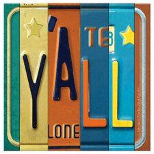 License Plates Y'all Occasions Coasters Set (Set of 4)