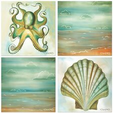 4 Piece Coastal Occasions Coasters Set