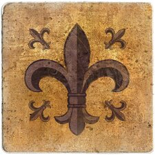 <strong>Thirstystone</strong> Fleur de Lis Travertine Ambiance Trivet