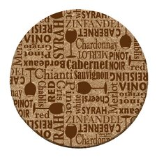Wine Words Cork Coaster Set (Set of 6)