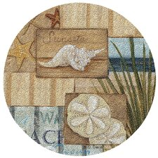 At the Beach II Cork Coaster Set (Set of 6)
