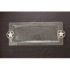 Western Star Glass Rectangular Serving Tray