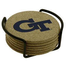<strong>Thirstystone</strong> 7 Piece Georgia Institute of Technology Cork Collegiate Coaster Gift Set
