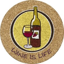 Wine is Life Cork Trivet