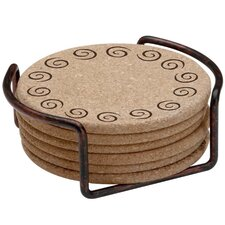 <strong>Thirstystone</strong> 7 Piece Swirls Cork Coaster Gift Set