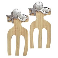 Shells Bamboo Salad Hands (Set of 2)