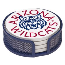 5 Piece University of Arizona Collegiate Coaster Gift Set