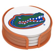 5 Piece University of Florida Collegiate Coaster Gift Set