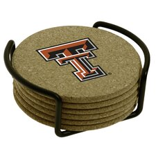 7 Piece Texas Tech University Cork Collegiate Coaster Gift Set