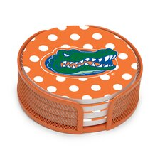 5 Piece University of Florida Dots Collegiate Coaster Gift Set