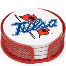 5 Piece University of Tulsa Collegiate Coaster Gift Set