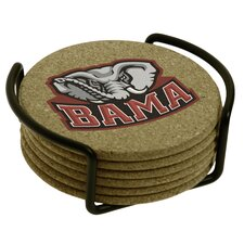 7 Piece University of Alabama Cork Collegiate Coaster Gift Set