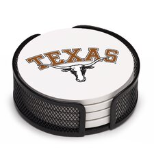 5 Piece University of Texas Collegiate Coaster Gift Set