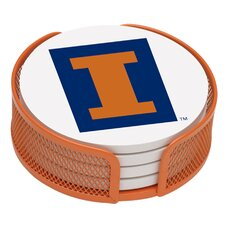 <strong>Thirstystone</strong> 5 Piece University of Illinois Collegiate Coaster Gift Set