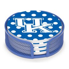 5 Piece University of Kentucky Dots Collegiate Coaster Gift Set