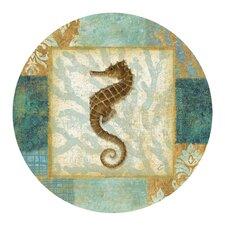 Aqua Seahorse Coaster (Set of 4)