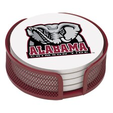 5 Piece University of Alabama Collegiate Coaster Gift Set