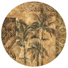 Golden Palm Tapestry Occasions Coaster (Set of 4)