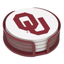 5 Piece University of Oklahoma Collegiate Coaster Gift Set