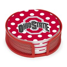 5 Piece Ohio State University Dots Collegiate Coaster Gift Set