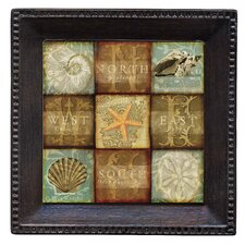 Coastal Treasures Ambiance Coaster Set (Set of 4)