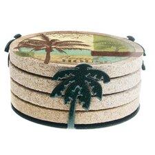 Palm Metal Coaster Holder