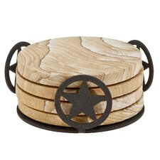 Western Star Metal Coaster Holder