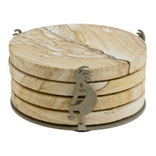 Kokopelli Cinnamon Speck Metal Coaster Holder