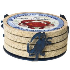 Crab Metal Coaster Holder