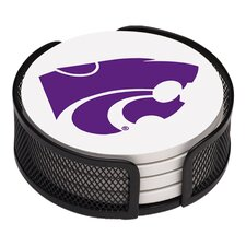 5 Piece Kansas State University Collegiate Coaster Gift Set