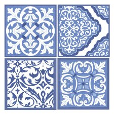 4 Piece Scrollwork Coaster Set