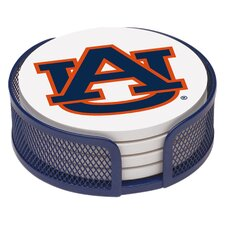 5 Piece Auburn University Collegiate Coaster Gift Set