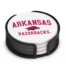 5 Piece University of Arkansas Collegiate Coaster Gift Set