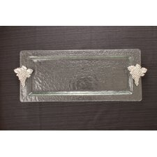 Grapes Glass Rectangular Serving Tray