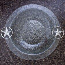 "Western Star Glass Round 14"" Serving Bowl"
