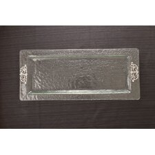<strong>Thirstystone</strong> Scroll Glass Rectangular Serving Tray