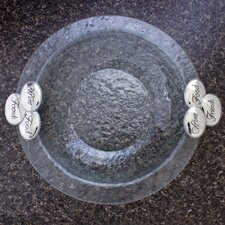 """Wine Food Friends Glass Round 14"""" Serving Bowl"""