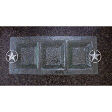 Western Star 3-Section Glass Rectangular Serving Tray
