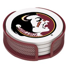5 Piece Florida State University Collegiate Coaster Gift Set