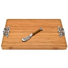<strong>Thirstystone</strong> Bamboo Scroll Serving Board with Spreader