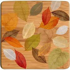 <strong>Thirstystone</strong> Golden Leaves I Bamboo Coaster (Set of 4)