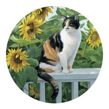 <strong>Thirstystone</strong> Cat and Sunflowers Coaster (Set of 4)