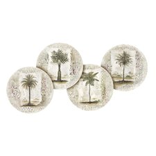4 Piece Ferns and Palms Occasions Coaster Set